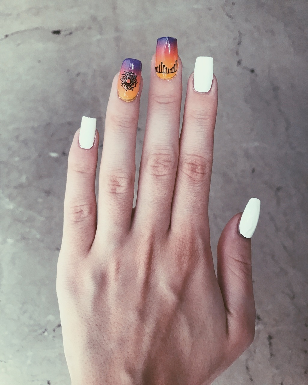 colors, nails, and unghii image