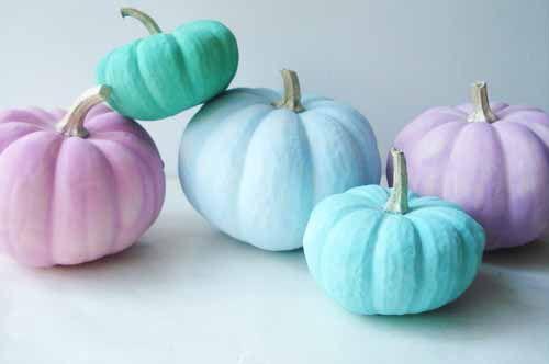 pumpkin, blue, and pastel image
