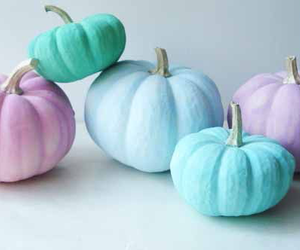 pumpkin, blue, and pastel image