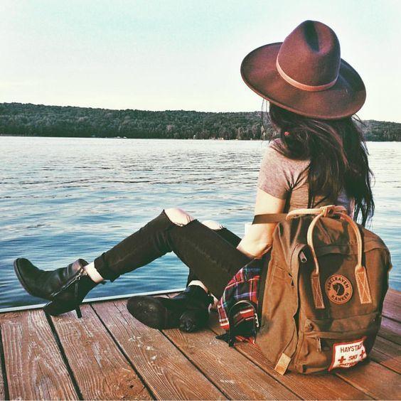 bag, cap, and clothes image