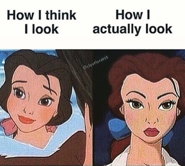 funny, belle, and disney image