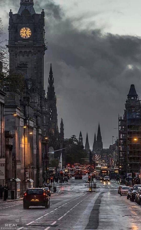 city, edinburgh, and street image