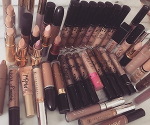 makeup, lipstick, and girl image