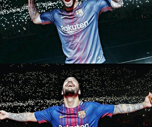 Barca, soccer, and messi image