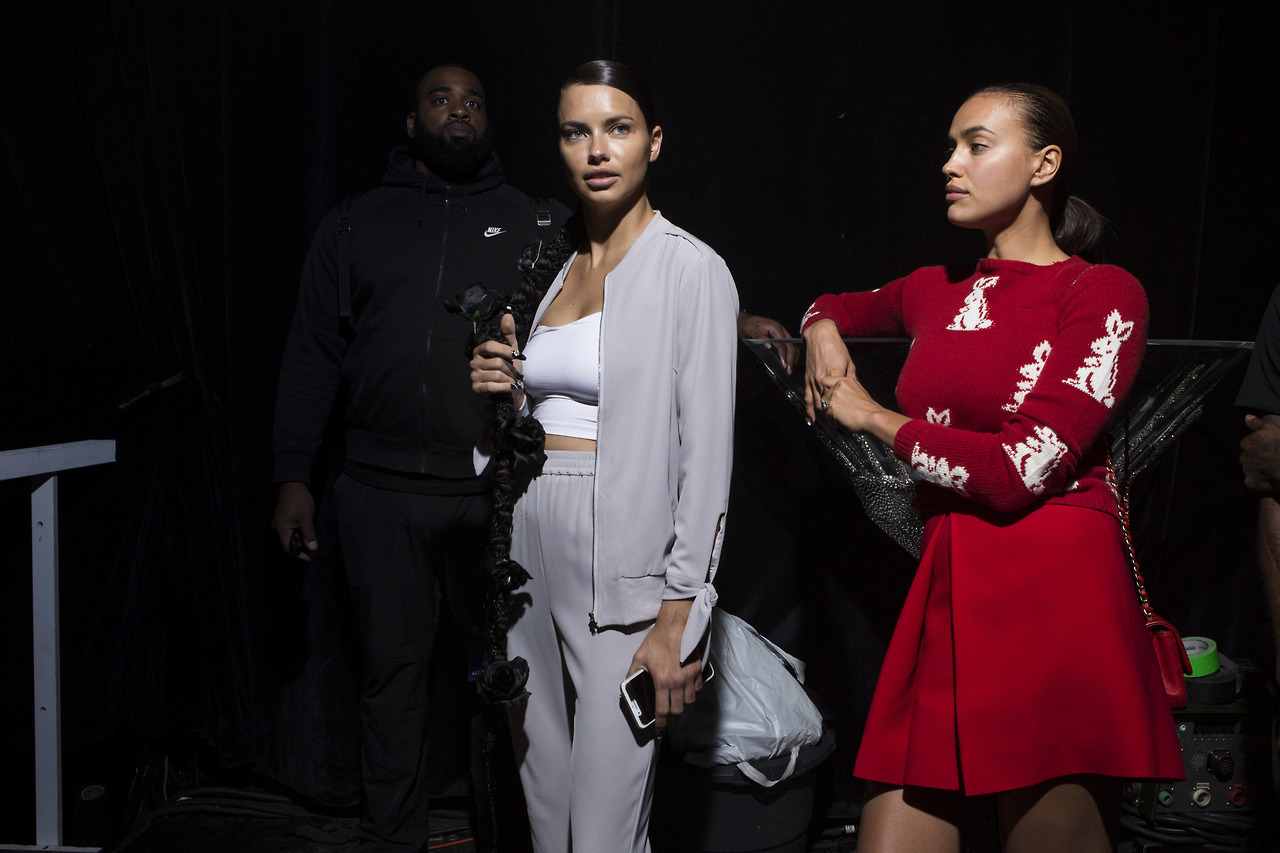 Adriana Lima, backstage, and candids image