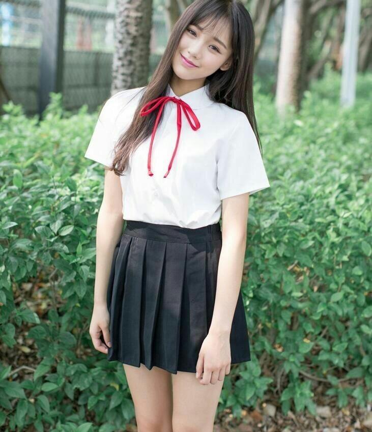 asian girl, school uniform, and schoolgirl image
