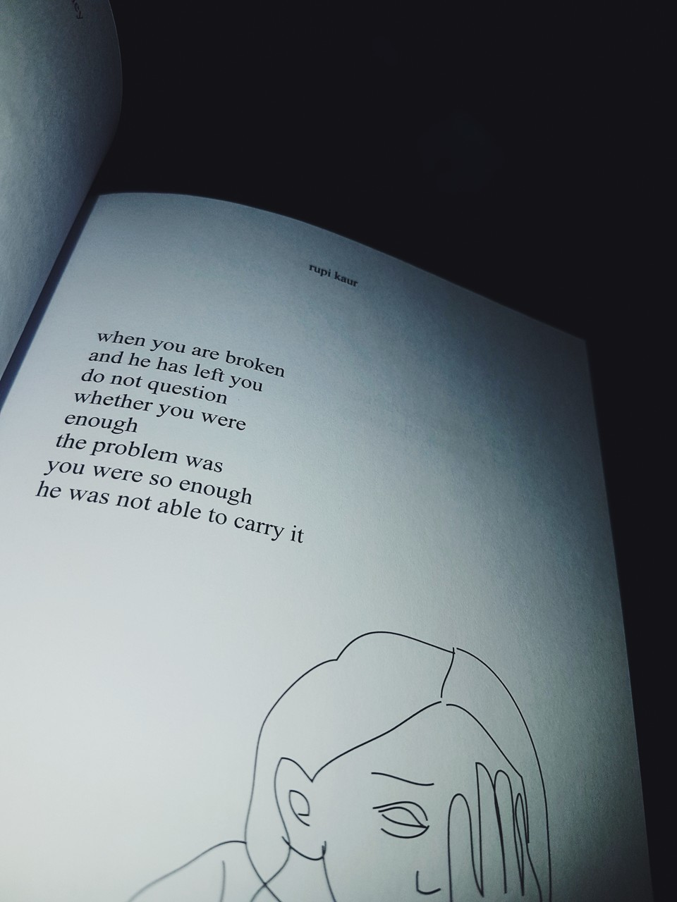 heartbreak, words, and rupi kaur image