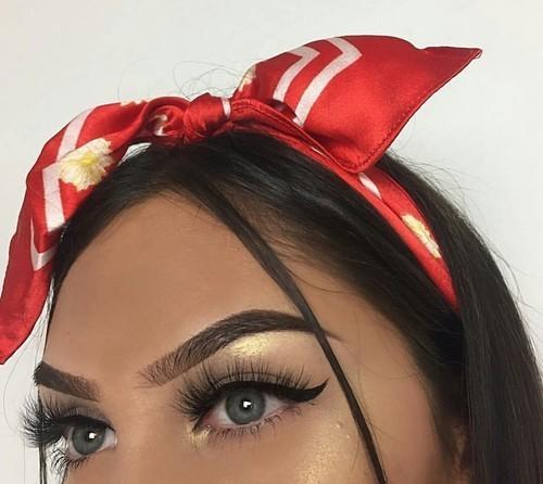 make up, makeup, and eyebrows image