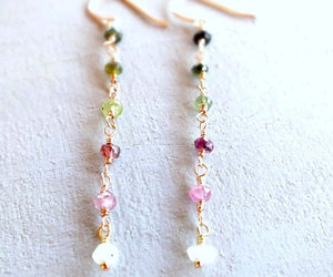 etsy, color spectrum, and rainbow earrings image