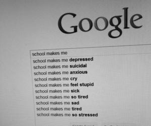school, google, and depressed image