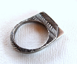 etsy, oxidized silver, and statement ring image