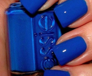 blue nails, bright blue, and nail inspo image