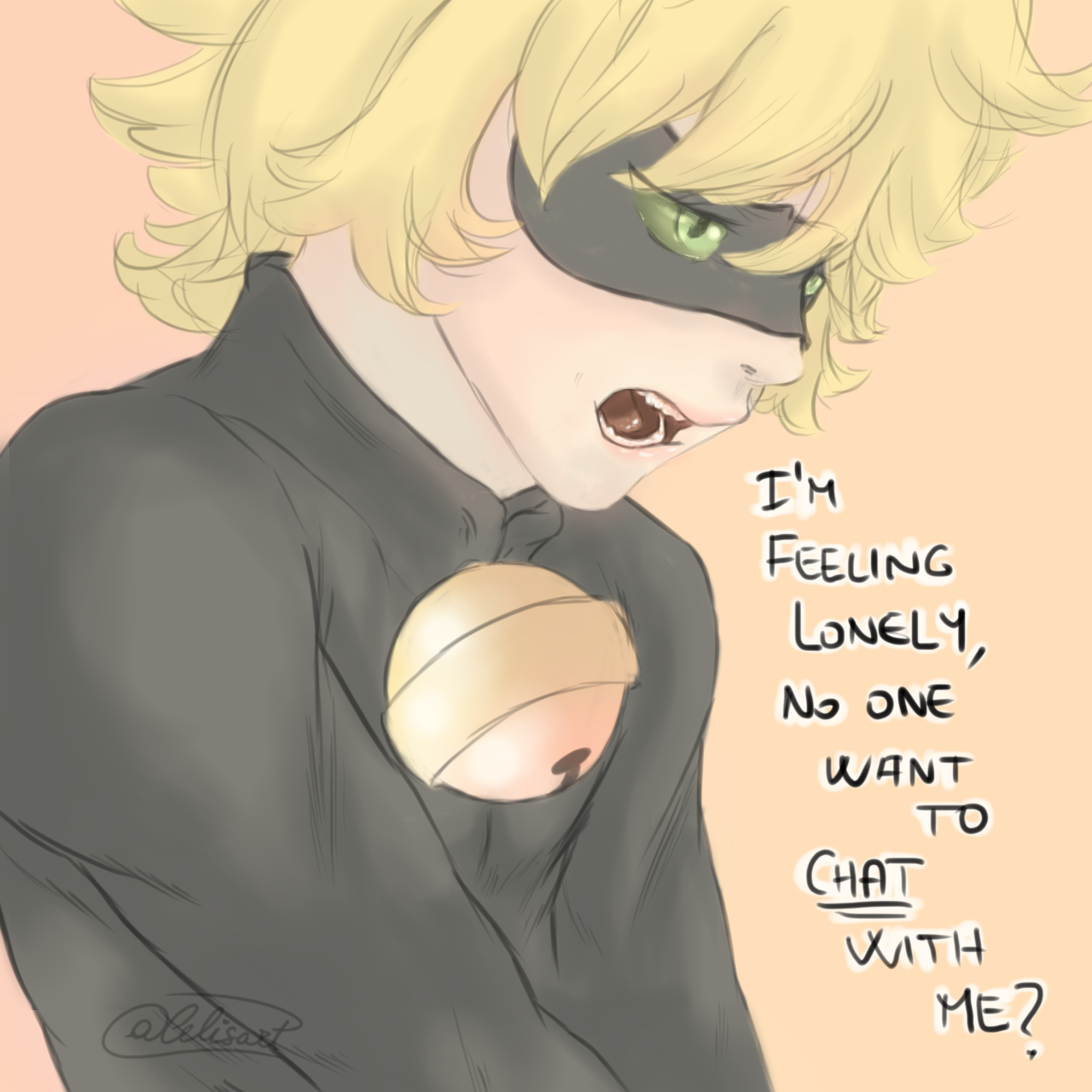 art, Chat Noir, and comic image