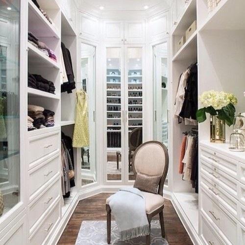 closet, interior, and clothes image