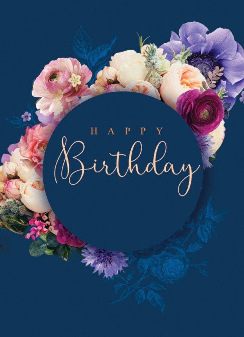 birthday, flowers, and happy birthday image