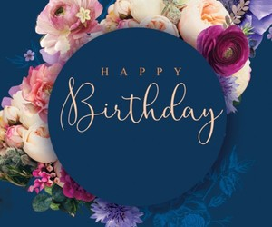 birthday, flowers, and happy birthday image