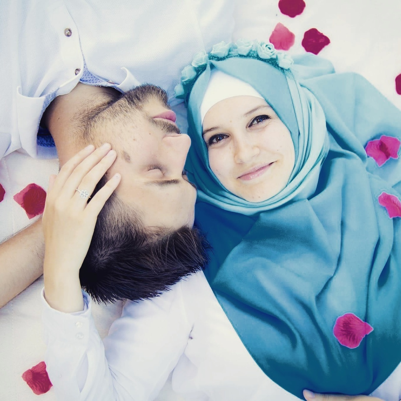 couple, muslim, and summer image