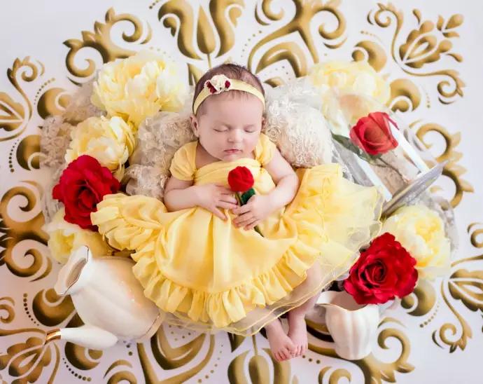baby, princess, and disney image