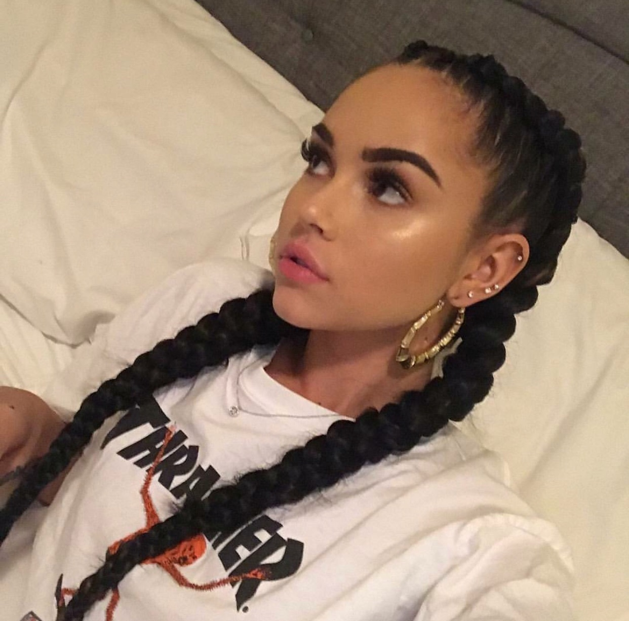 girl, maggie lindemann, and braid image