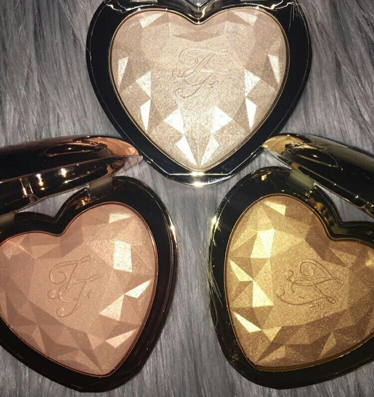 heart, highlighters, and too faced image