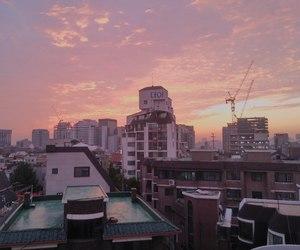 pink, sky, and korea image