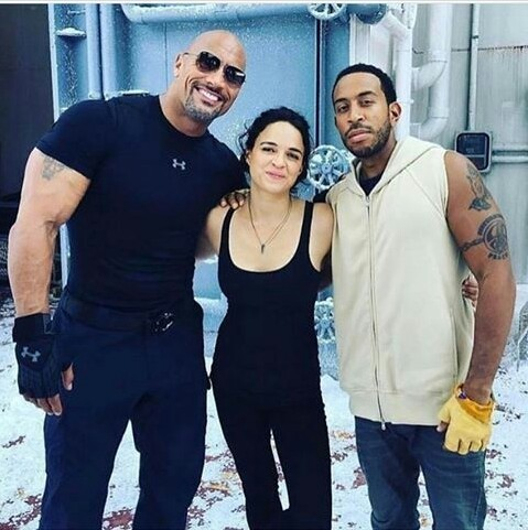 behind the scene, ludacris, and the rock image