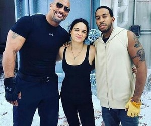behind the scene, michelle rodriguez, and fast and furious image