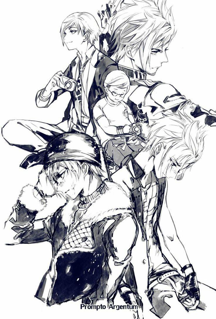 anime boy, final fantasy xv, and prompto argentum image