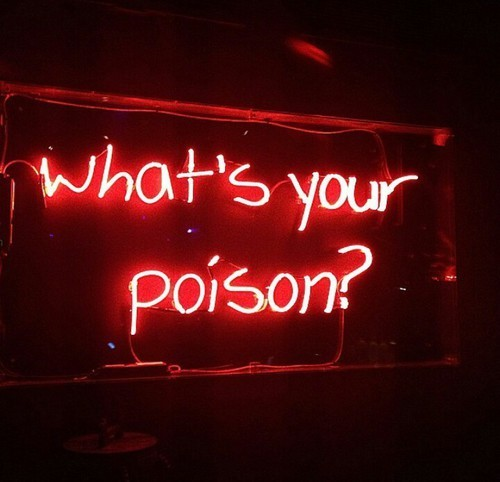 red, poison, and neon image