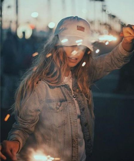 girl, light, and people image