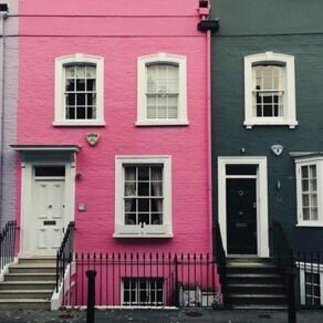 pink, black, and home image