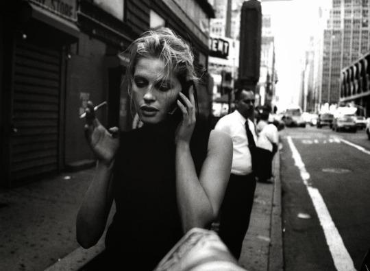 black and white, city, and smoke image