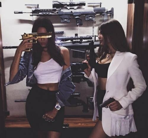 friends, gun, and goals image
