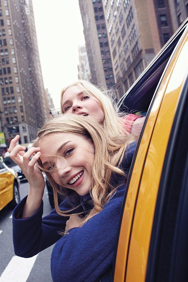 girl, new york, and taxi image