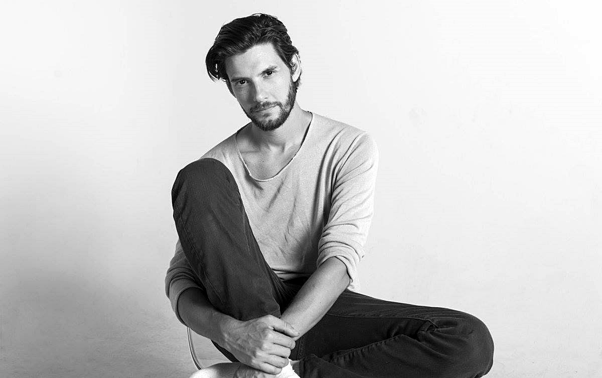 ben barnes and black and white image