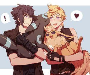 pokemon, umbreon, and anime boy image