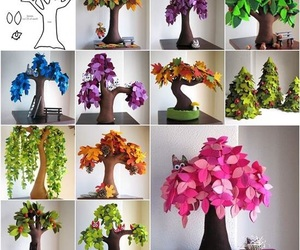 colorful, trees, and decoration image