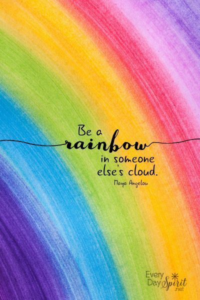 quotes and rainbow image