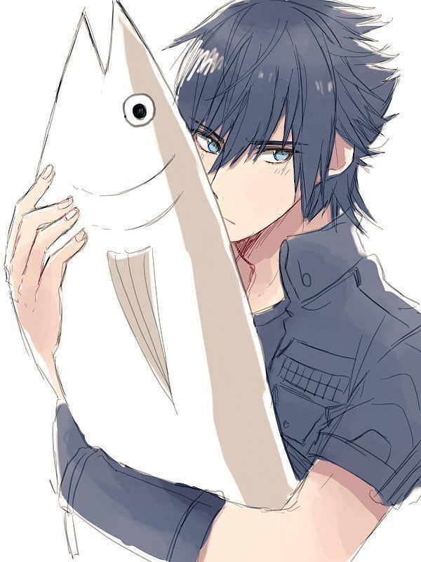 fish, anime boy, and noctis lucis caelum image