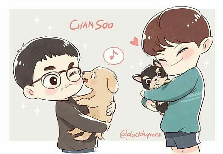 chansoo, exo, and chanyeol image