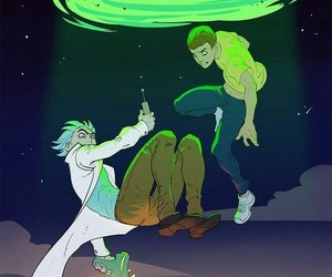 rick, morty, and Рик image
