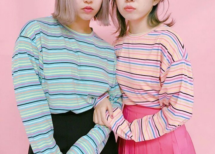 aesthetic, bff, and blue and pink image
