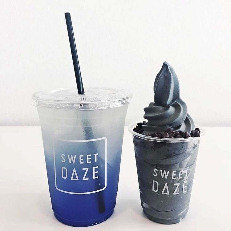blue, drink, and food image