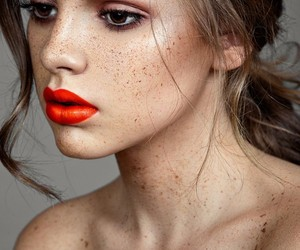 aesthetic, beautiful, and freckles image