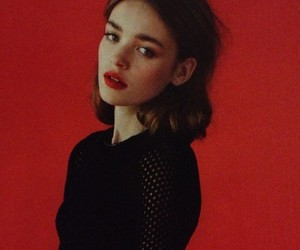 red, girl, and vintage image
