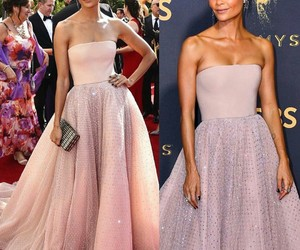 pink, red carpet, and thandie newton image