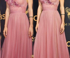 dress, pink, and red carpet image