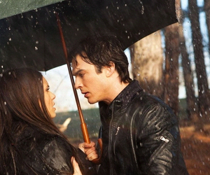 delena, elena, and damon image