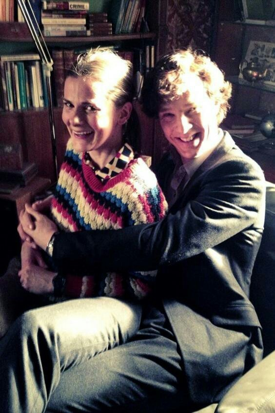 sherlock, benedict cumberbatch, and louise brealey image