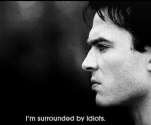 ian somerhalder, idiot, and the vampire diaries image